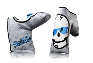 Swag Golf Silver and Blue Skull Headcover