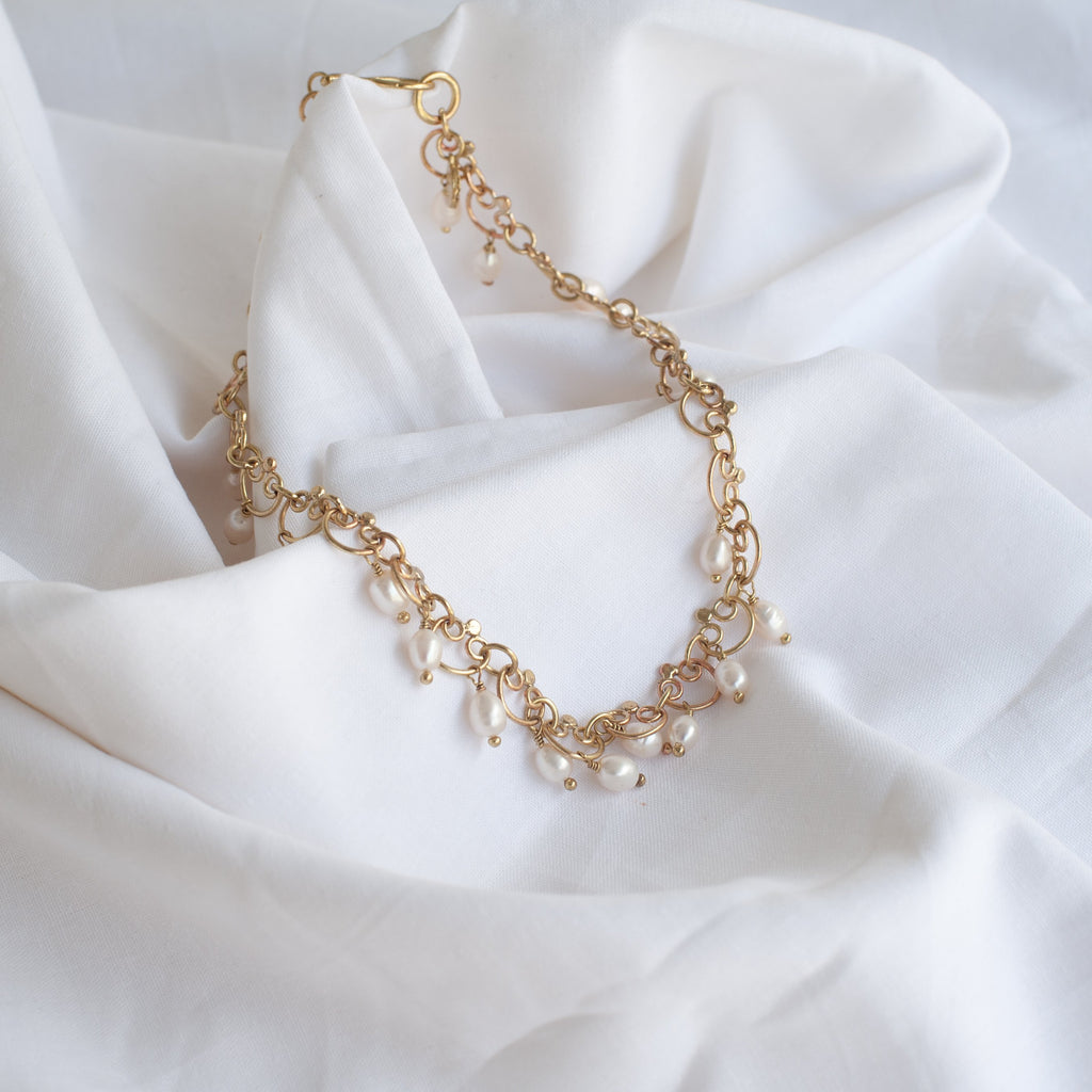 Gold & Mini Pearl Drops Necklace - Blue Sky Clothing Co