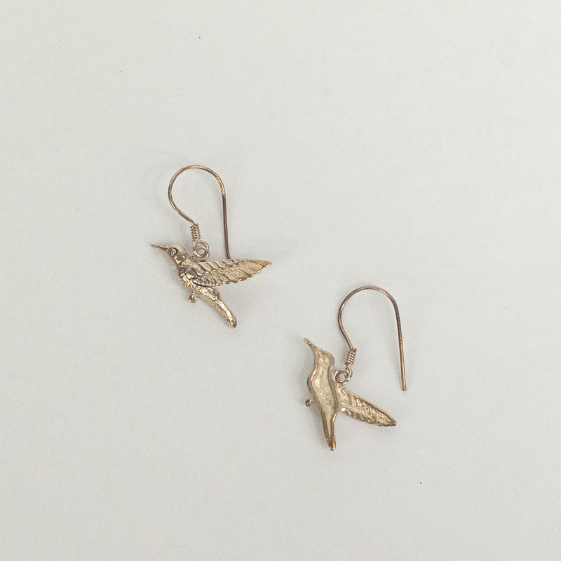 Silver Humming Birds Earrings - Blue Sky Clothing Co