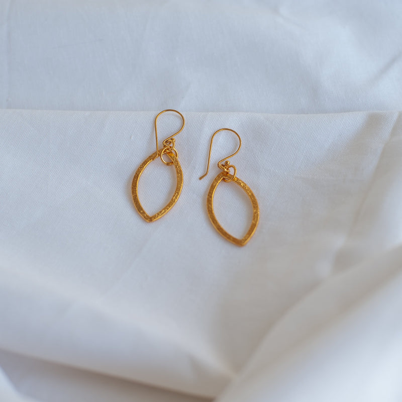 Gold Leaf Small Earrings - Blue Sky Clothing Co