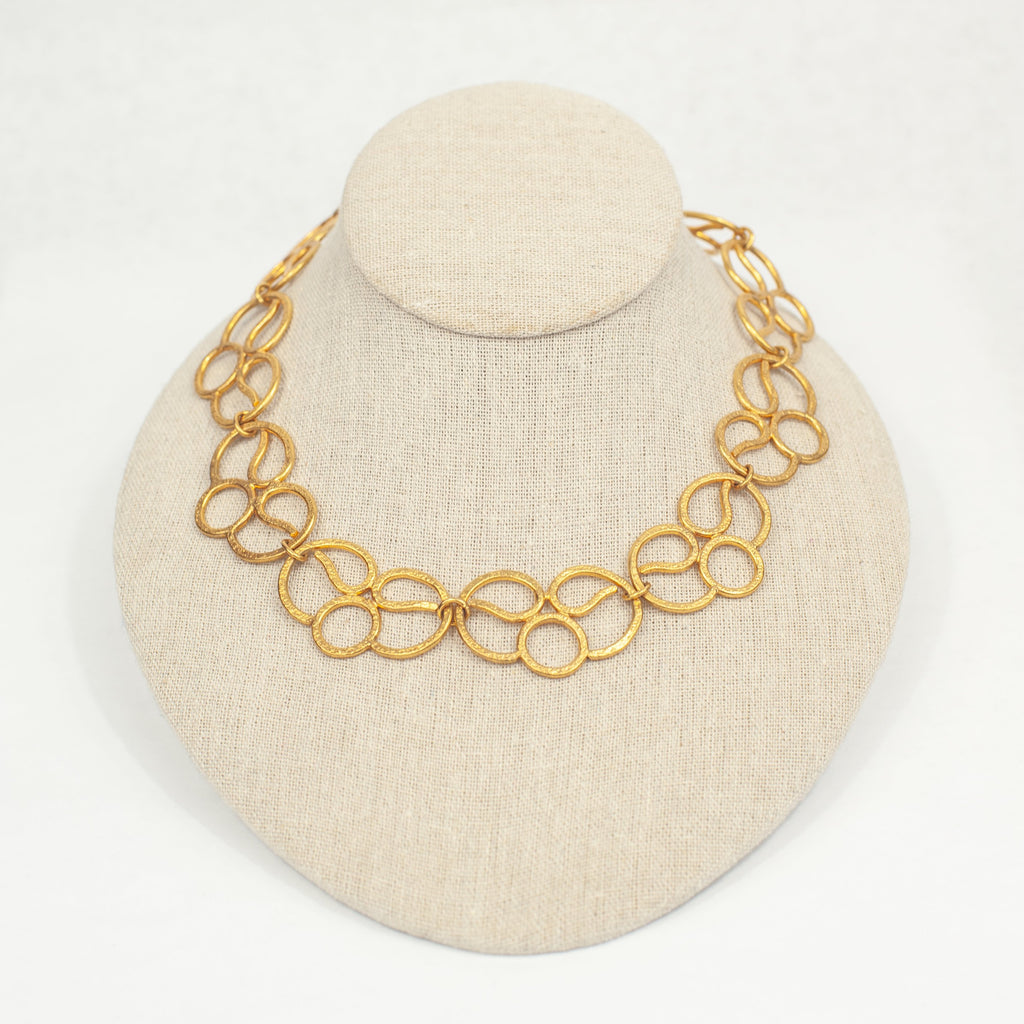 Gold Lotus Necklace - Blue Sky Clothing Co