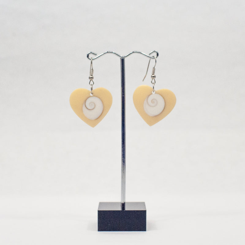 Mother of Pearl Hearts Earrings - Blue Sky Clothing Co