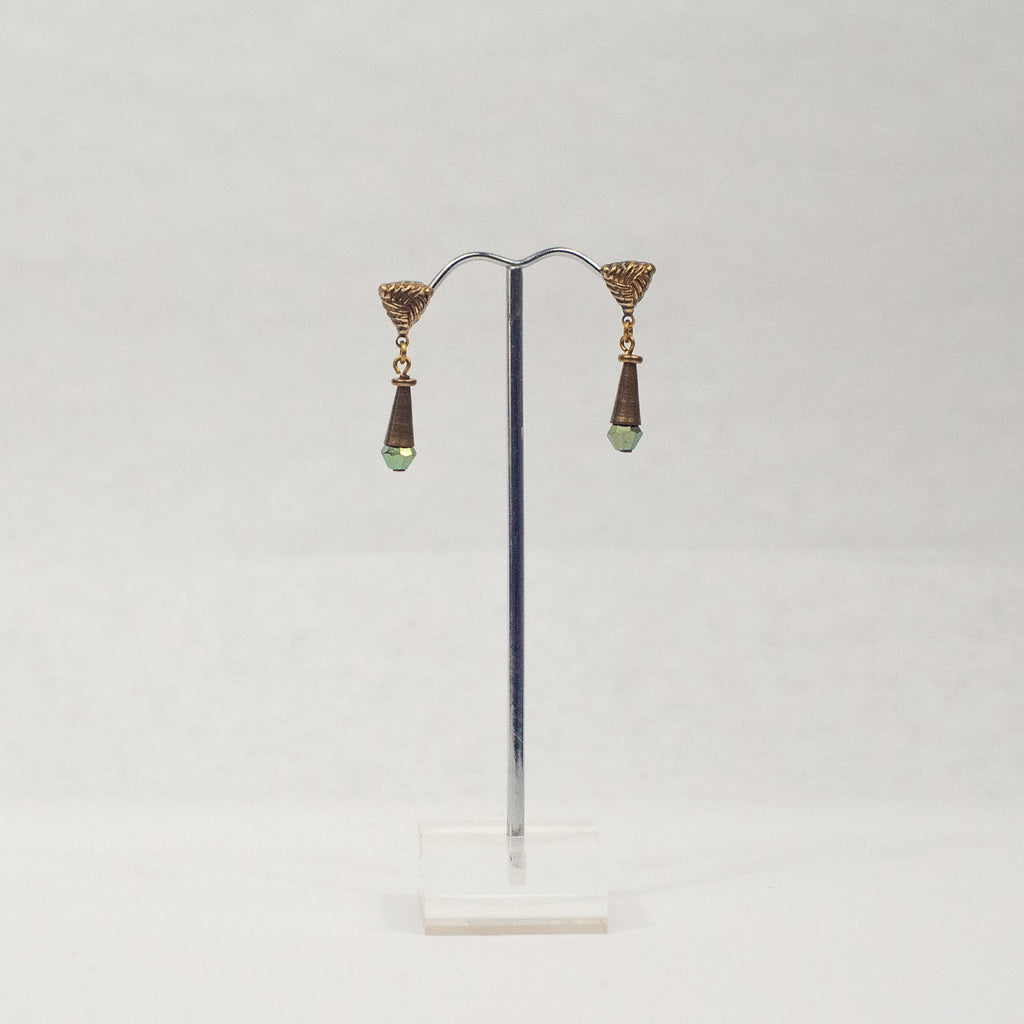 Bronze Triangle Earrings Two - Blue Sky Clothing Co