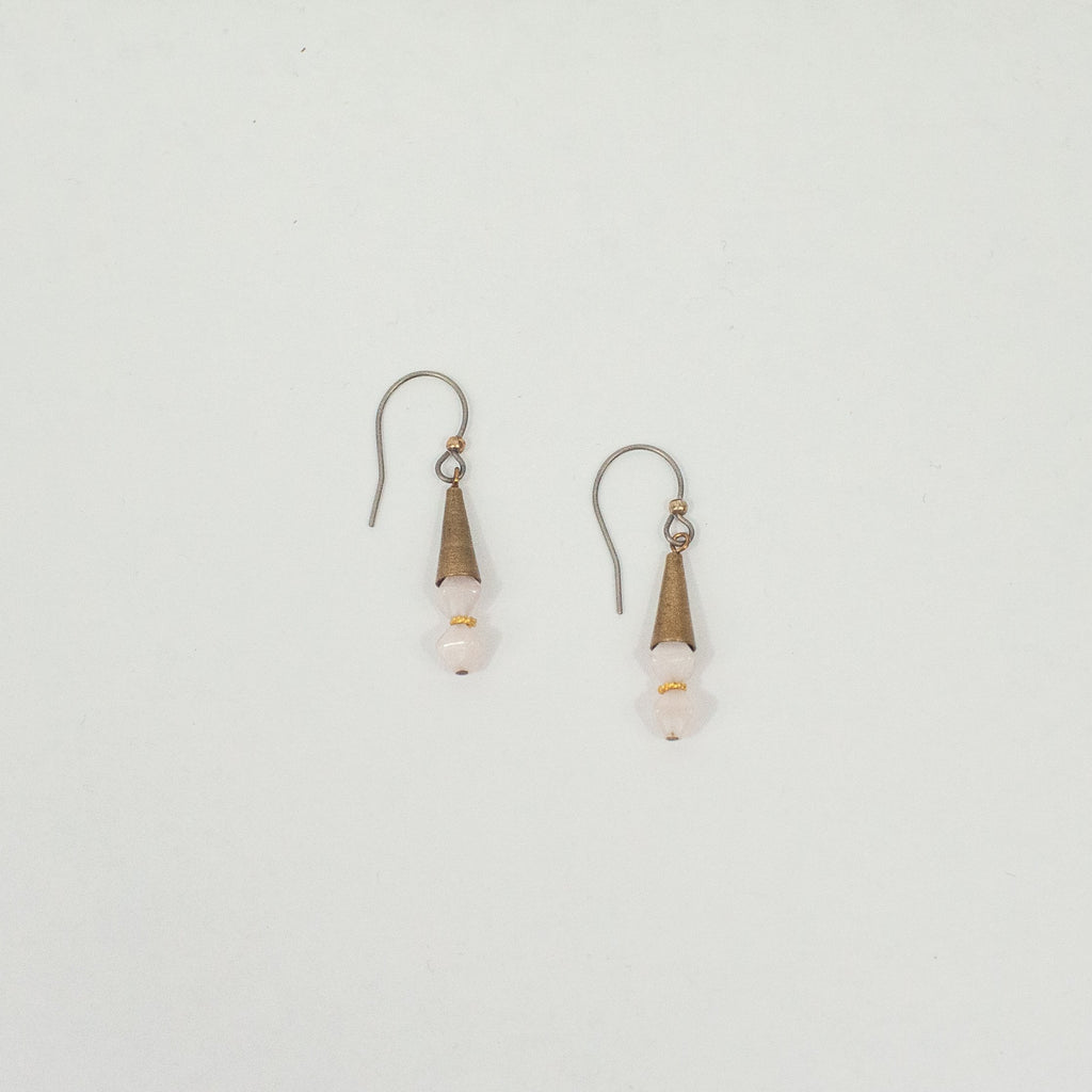 Mini Opal pink Cones Earrings - Blue Sky Clothing Co