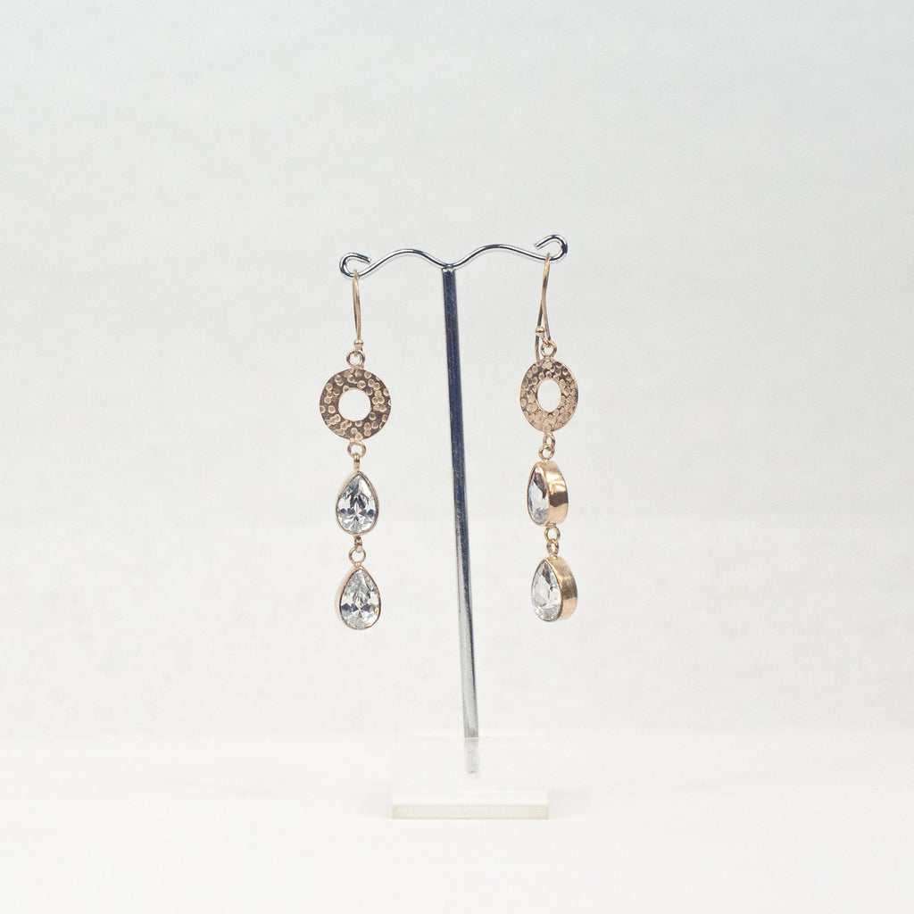 Crystal Drops Earrings - Blue Sky Clothing Co