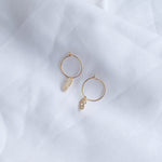 Gold Mini Sparkling Seahorse Hoops Earrings - Blue Sky Clothing Co