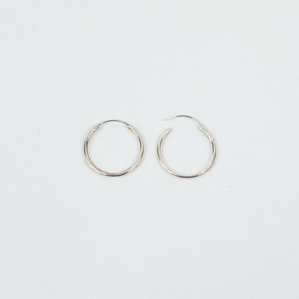 Small Silver Hoops Earrings - Blue Sky Clothing Co