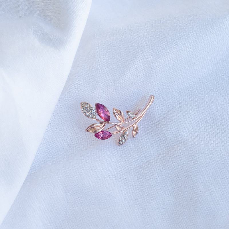 Pink Branch Sparkle Brooch - Blue Sky Clothing Co
