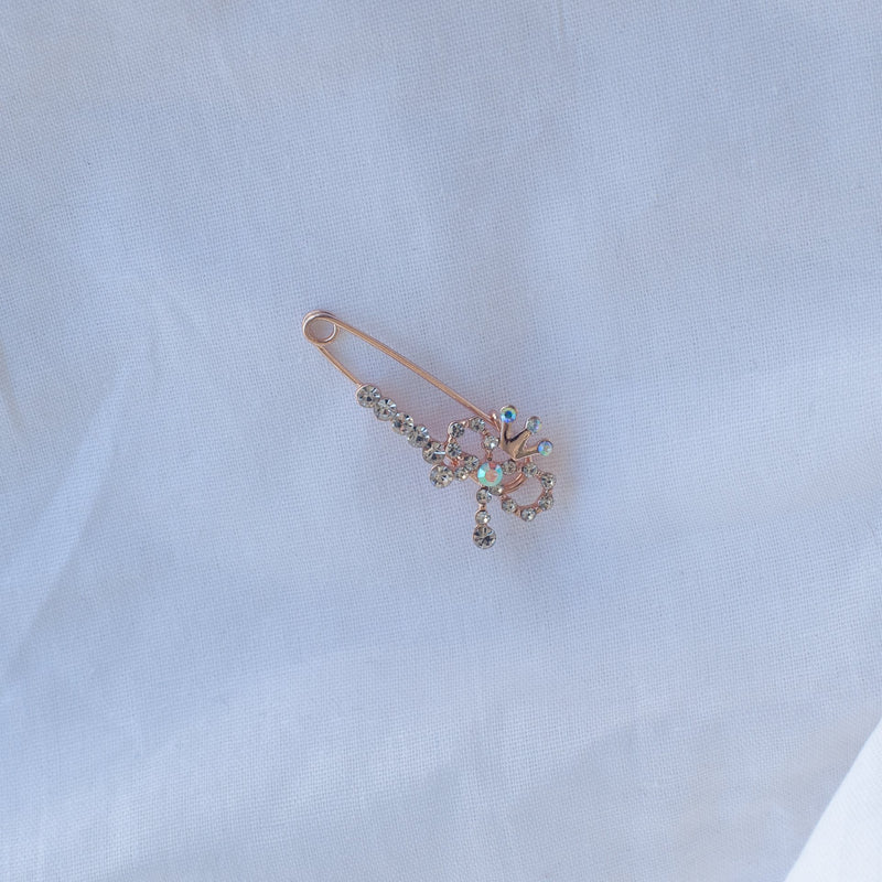 Ribbon Pin Sparkle Brooch - Blue Sky Clothing Co