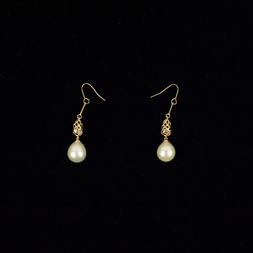 Pearl Droplet A Earrings - Blue Sky Clothing Co