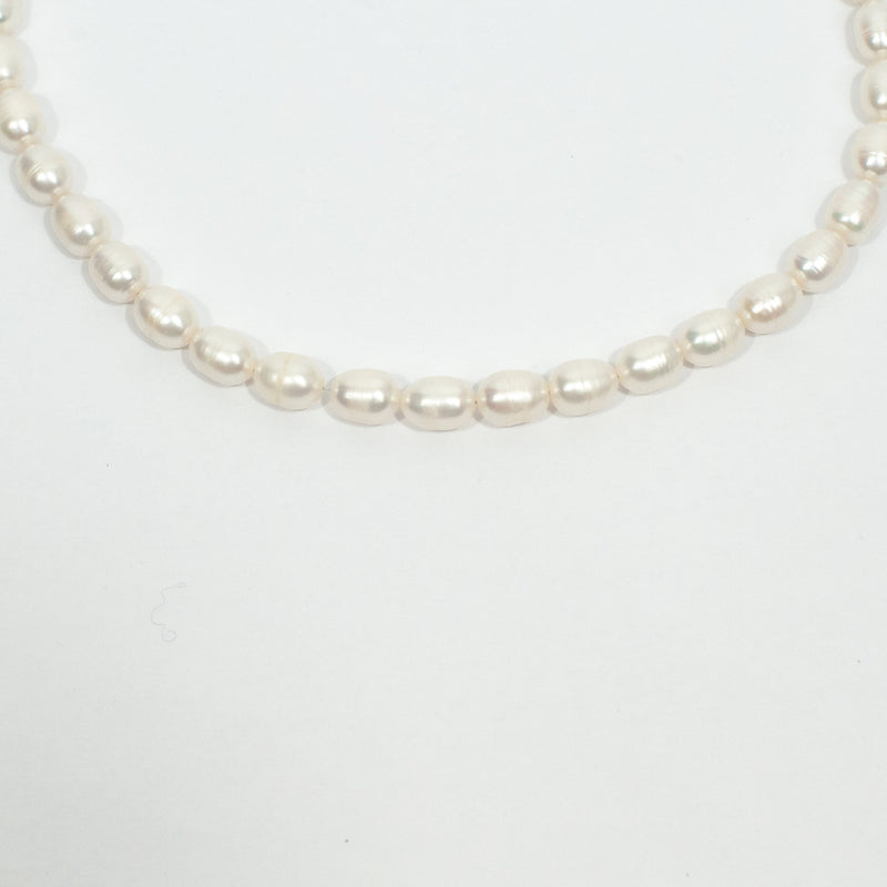 Oval Pearl Necklace - Blue Sky Clothing Co