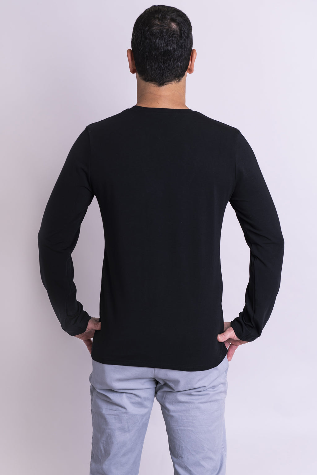 Adam Long Sleeve, Black, Bamboo - Blue Sky Clothing Co