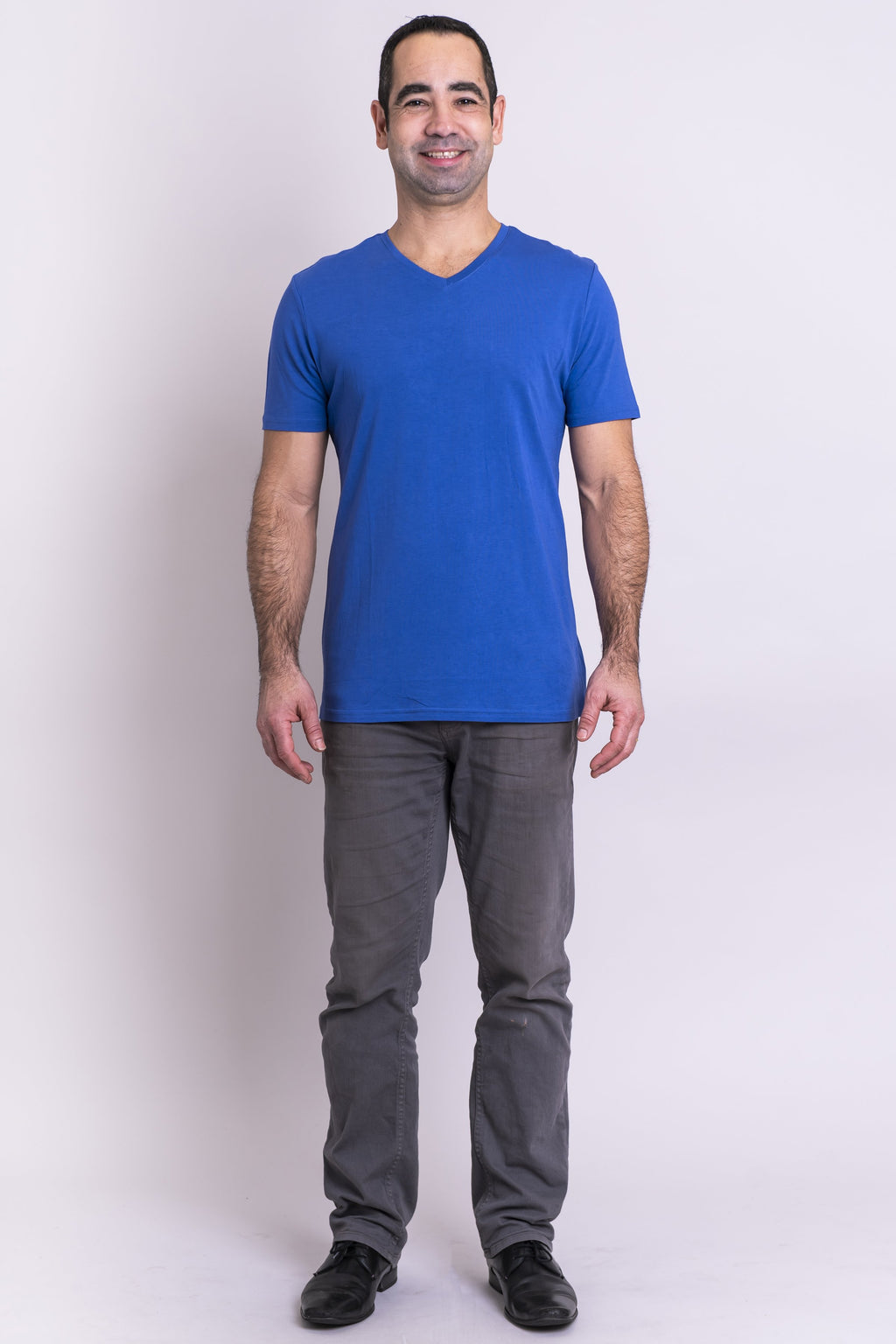 Adam Top, Periwinkle, Bamboo Cotton