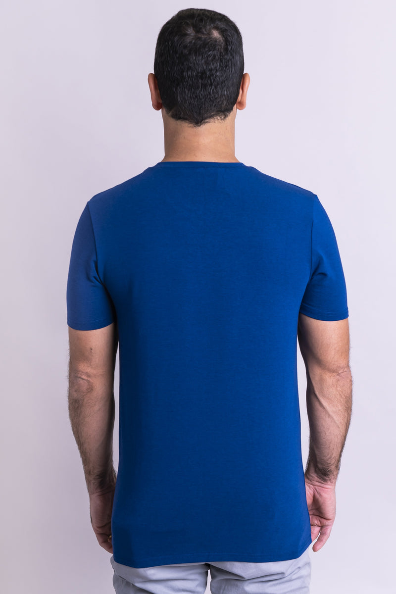 Adam Top, Lake Blue, Bamboo - Blue Sky Clothing Co