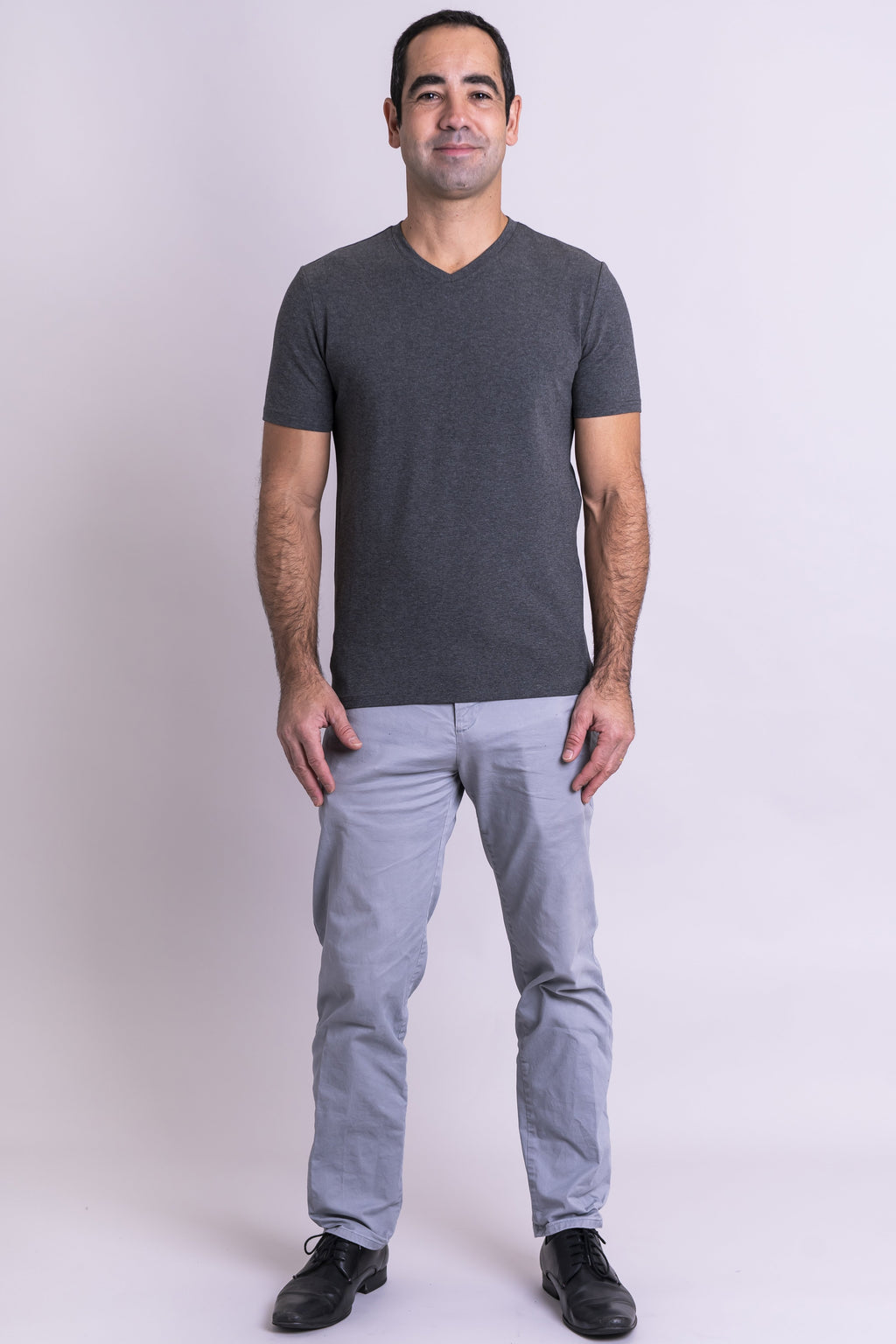 Adam Top, Yarn Dyed Grey, Bamboo - Blue Sky Clothing Co