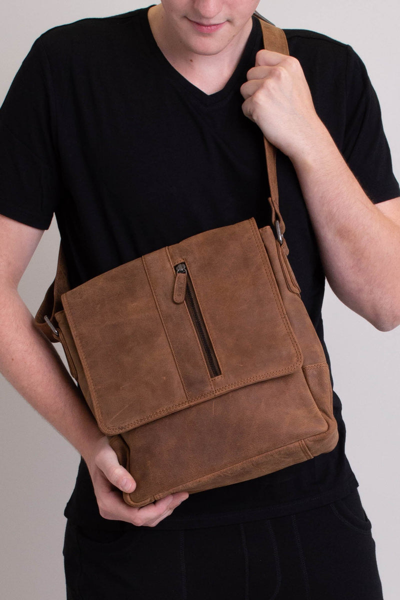 Adrian Klis 2750 Messenger Bag, Buffalo Leather