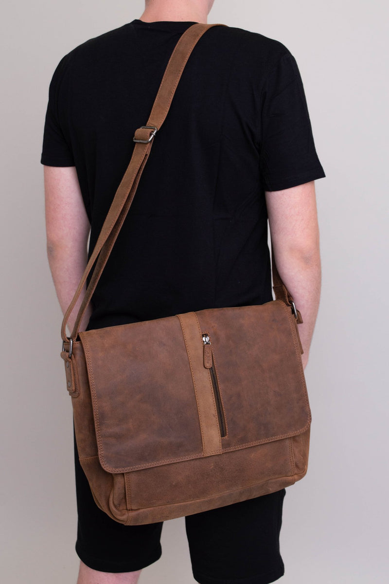 Adrian Klis 2751 Messenger Bag, Buffalo Leather