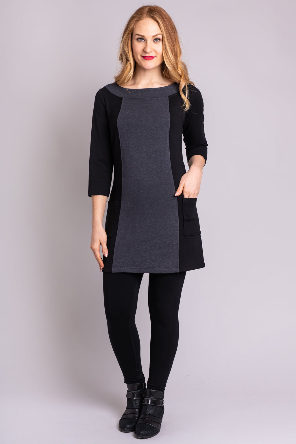 Alison Tunic, Granite - Blue Sky Clothing Co