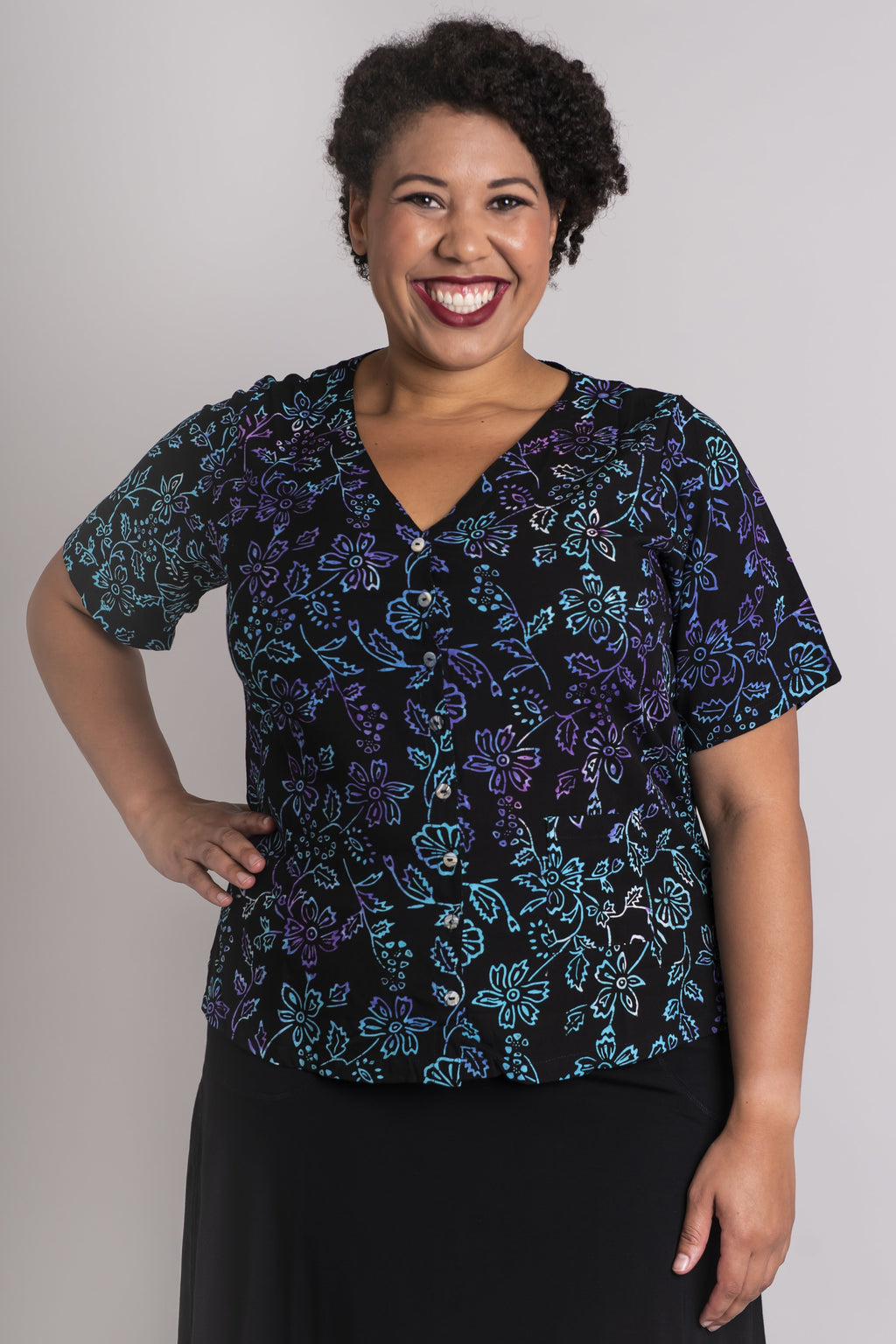 Anita Blouse, Castle Garden - Blue Sky Clothing Co