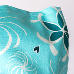 Artwork Totebag Hearts and Flowers Turquoise - Blue Sky Clothing Co