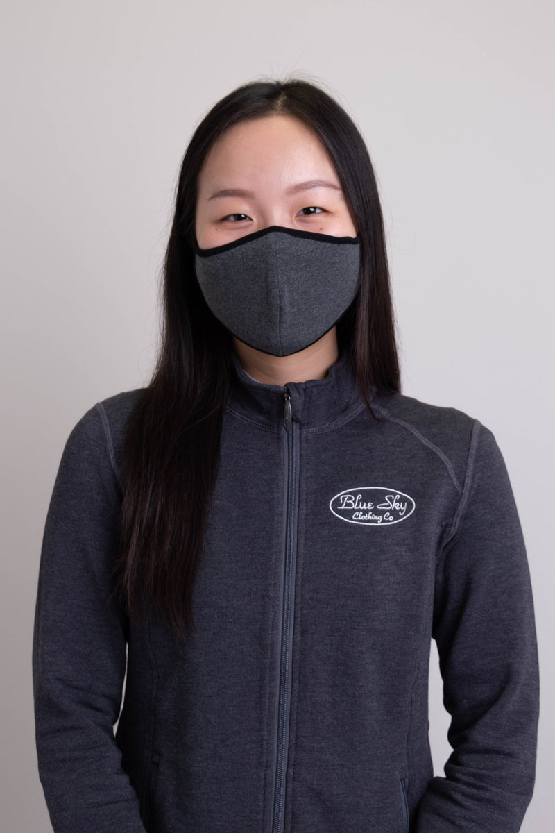 Unisex grey comfortable face mask made with natural bamboo fibers.
