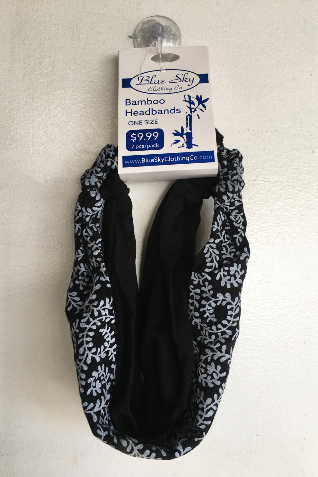Bamboo Headbands, Black/White Bishan - Blue Sky Clothing Co