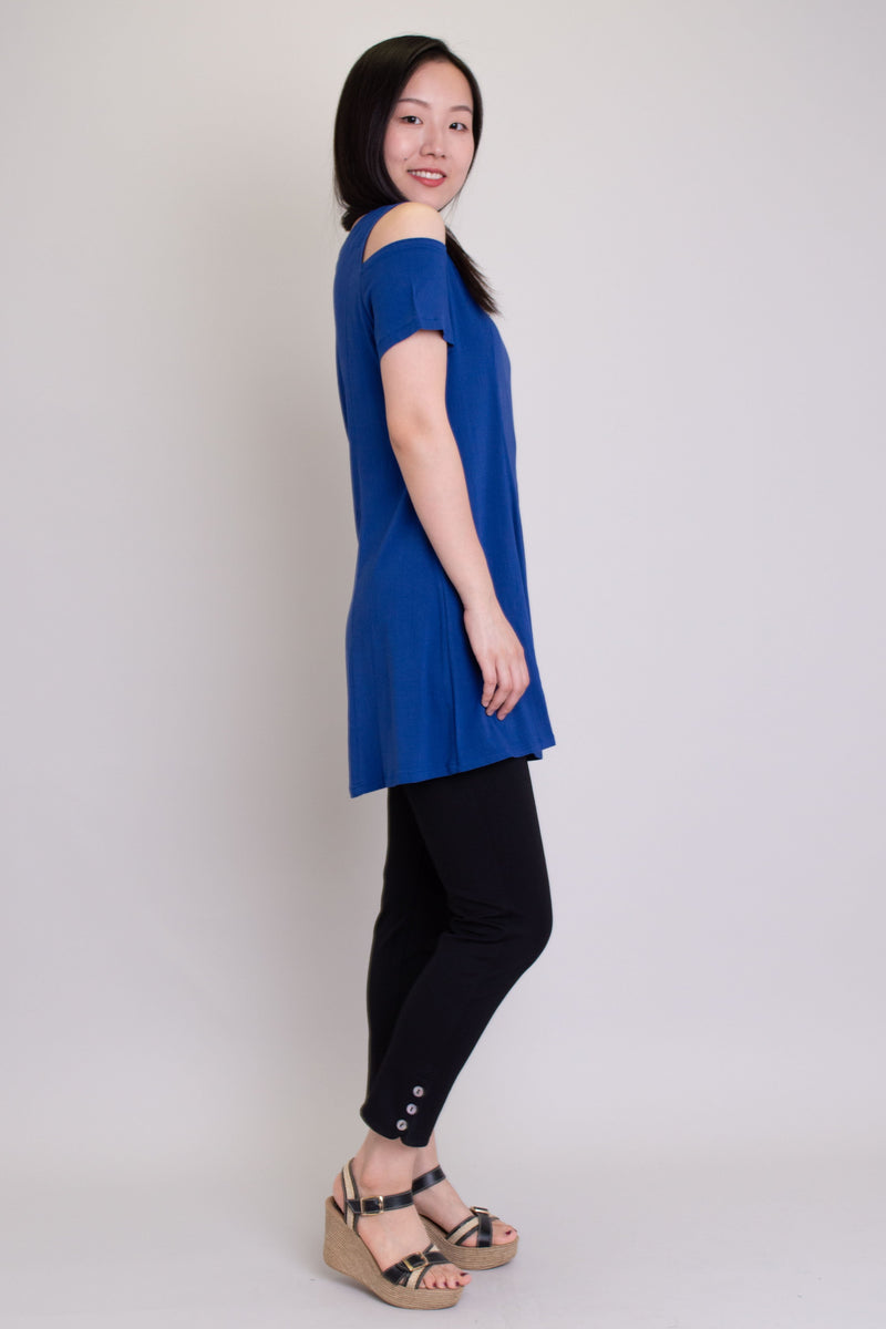 Beatrice Top, Sapphire, Linen Bamboo - Blue Sky Clothing Co