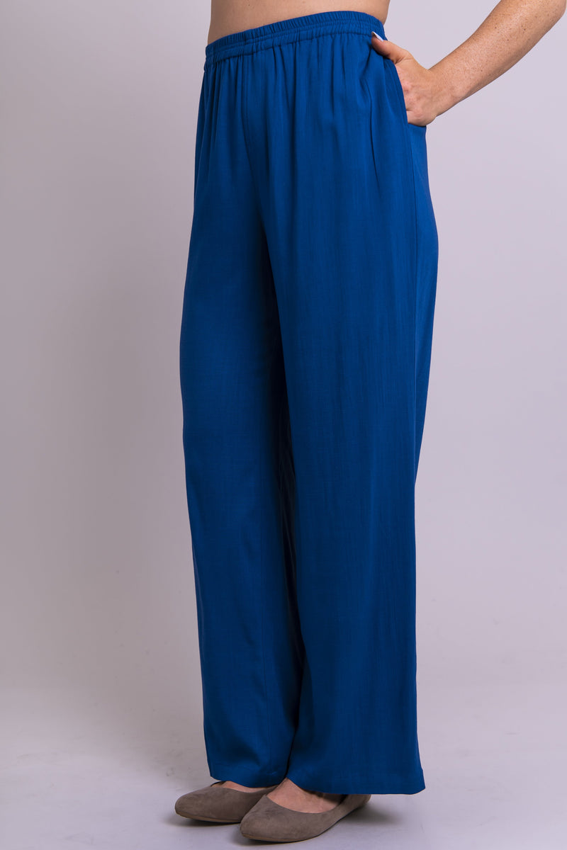 Bella Pant, Sapphire, Linen Bamboo - Blue Sky Clothing Co