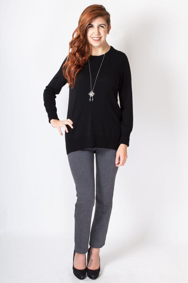 Bena Sweater, Black, Wool Bamboo - Blue Sky Clothing Co