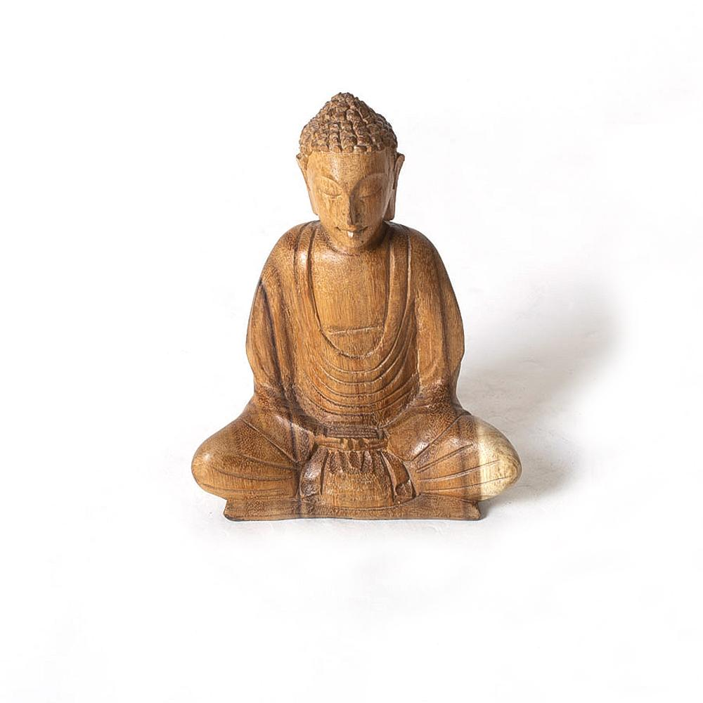 Wooden Buddha, Small - Blue Sky Clothing Co