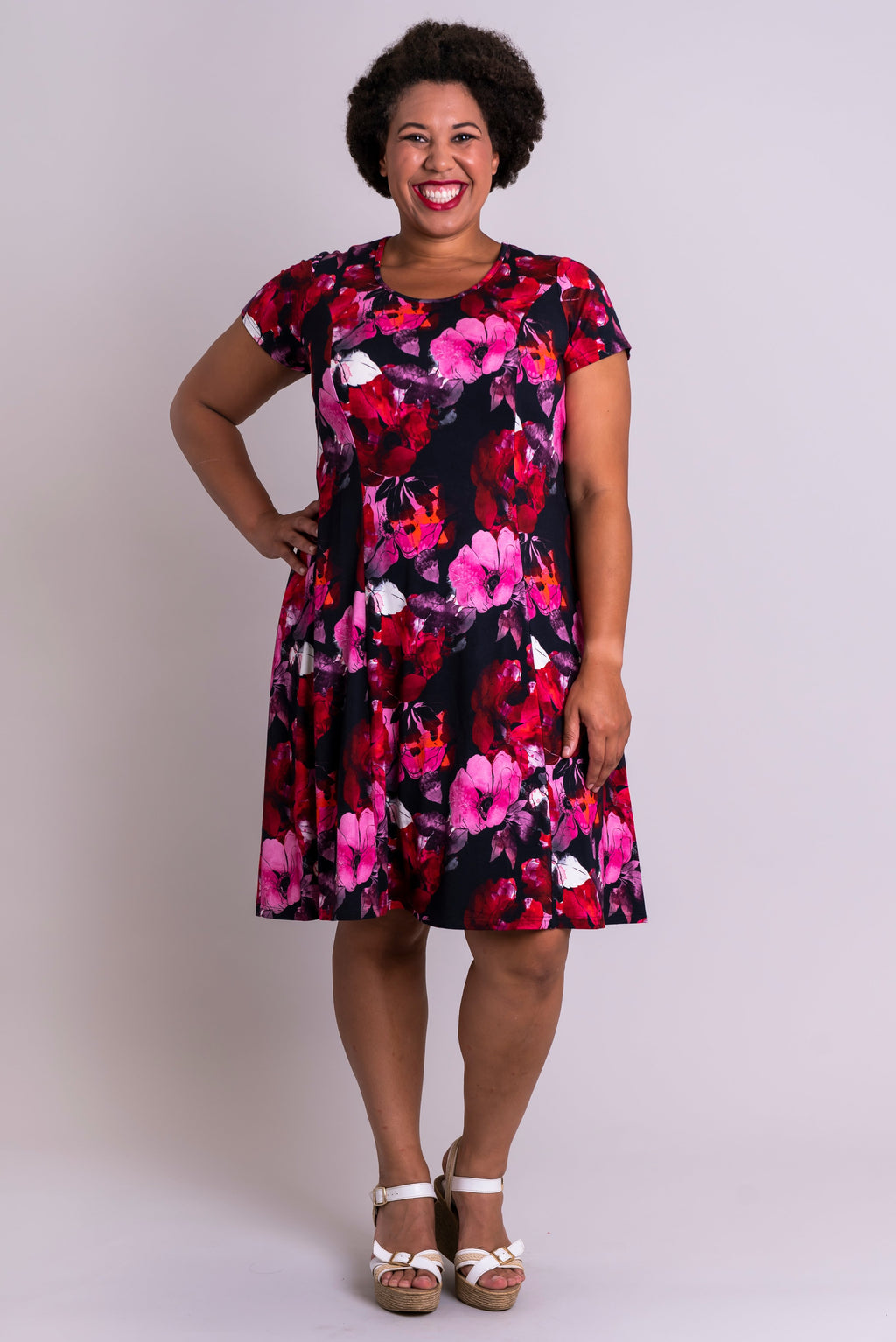Callie Dress, Madame Butterfly, Bamboo - Blue Sky Clothing Co