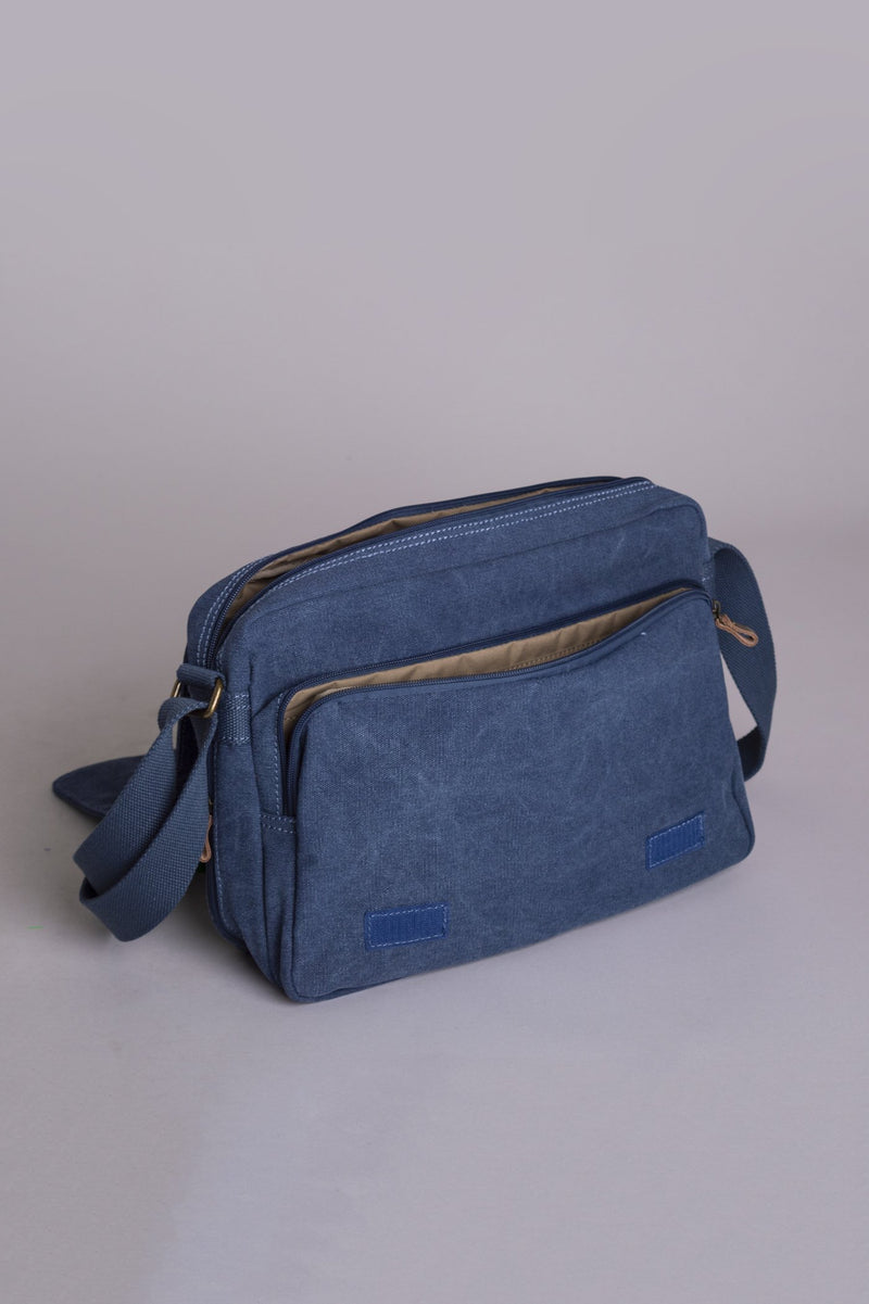 Outlook Canvas Bag, Blue - Blue Sky Clothing Co