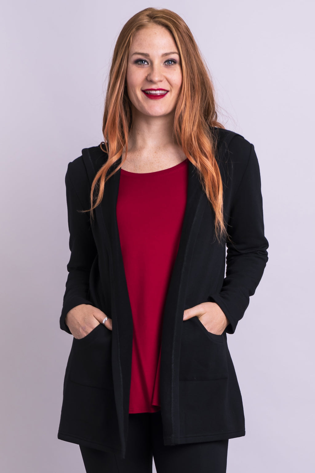 Carlotta Jacket, Black Fleece - Blue Sky Clothing Co
