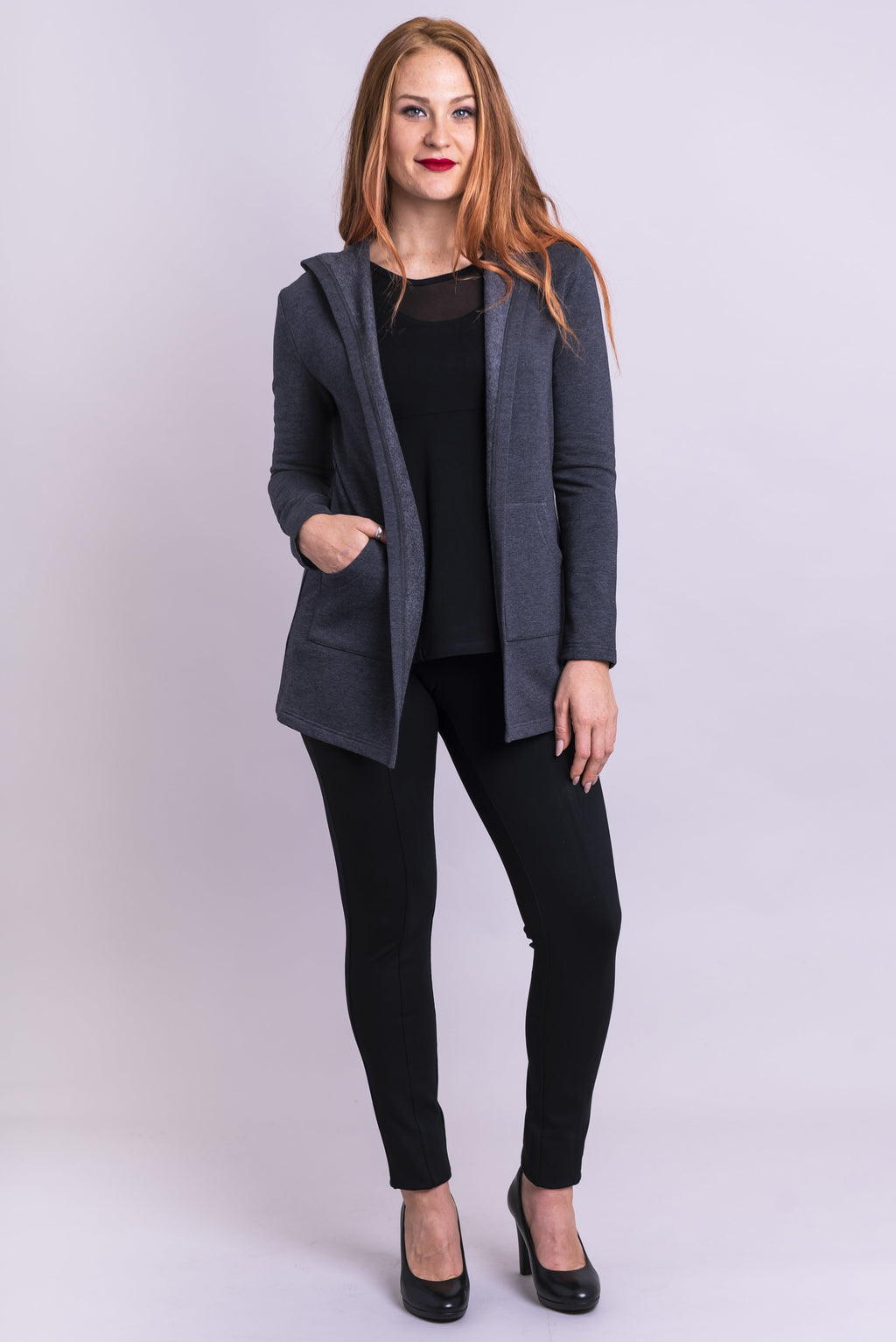 Carlotta Jacket, Granite Fleece - Blue Sky Clothing Co