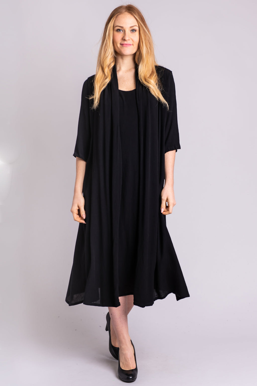 Carmen Dress, Black, Viscose - Blue Sky Clothing Co