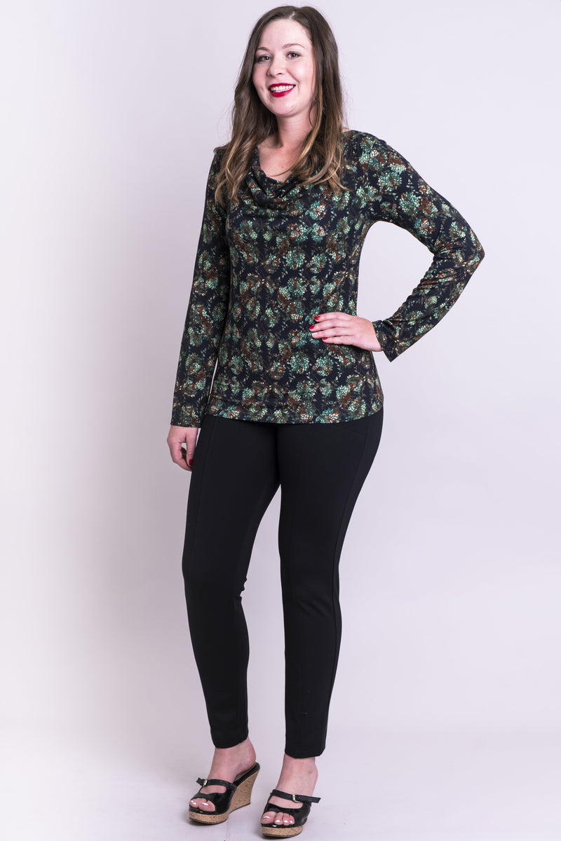 Charisse Top, Sage Dahlia, Bamboo - Blue Sky Clothing Co