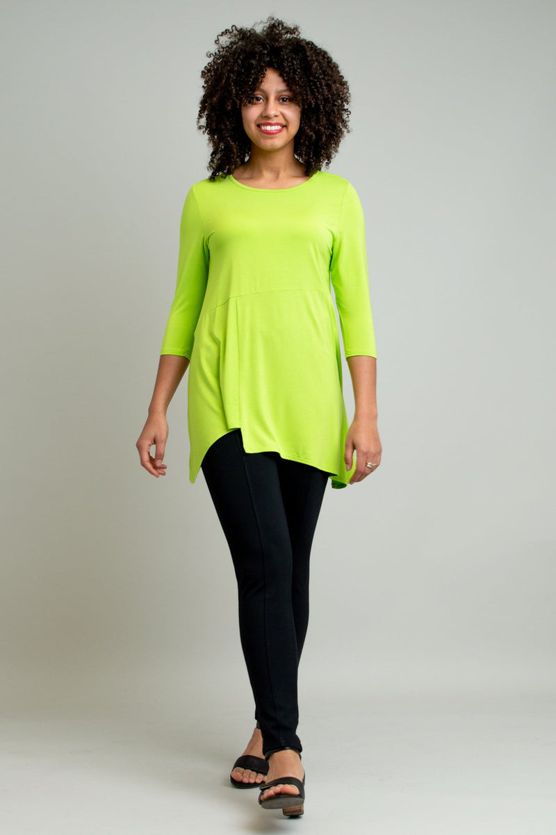 Charming Tunic, Chartreuse, Bamboo