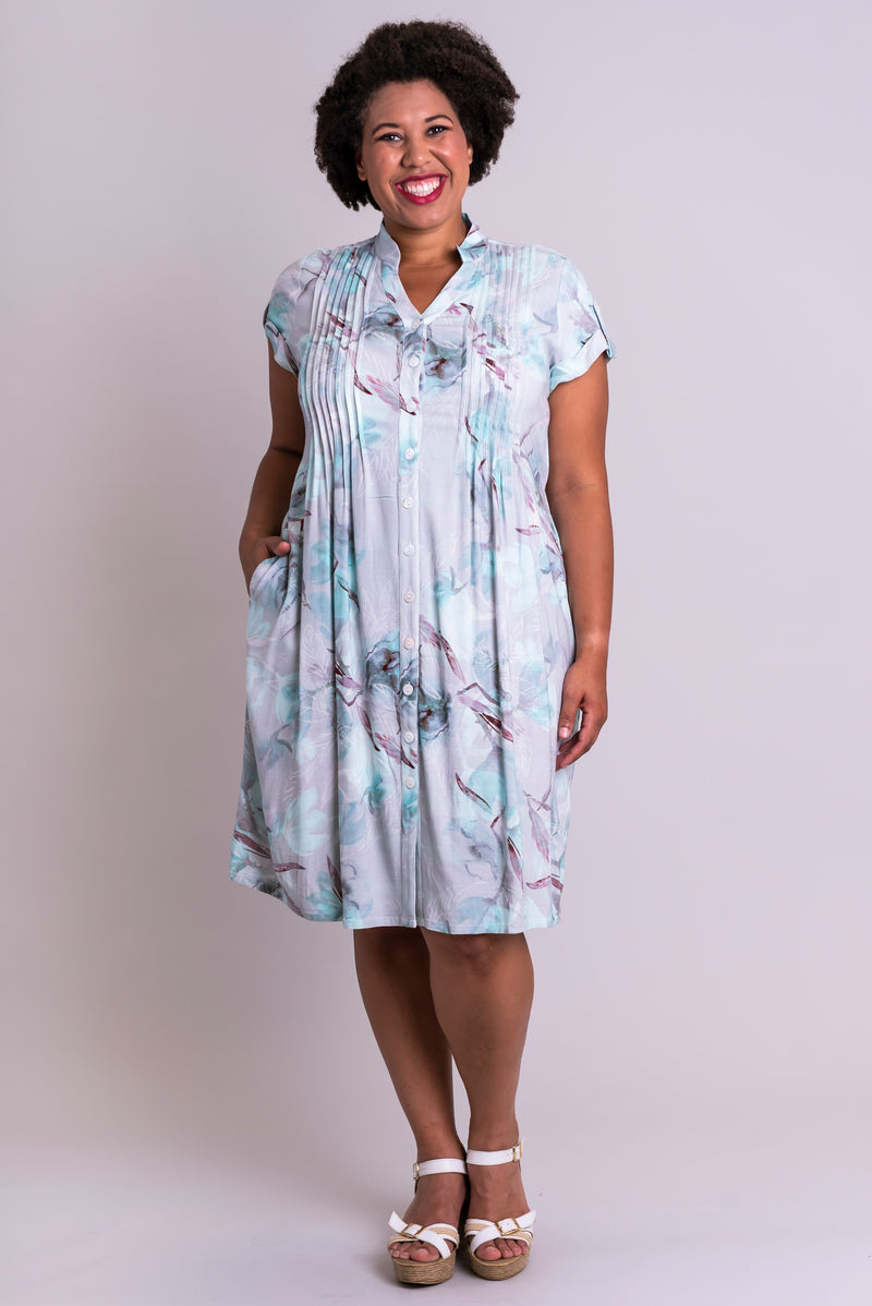 Chelsea Dress, Mintage, Linen Bamboo - Blue Sky Clothing Co