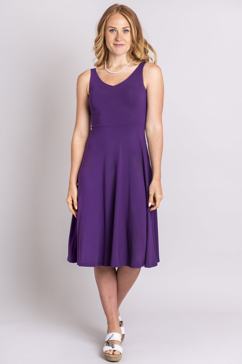Cheryl Dress, Purple, Bamboo - Blue Sky Clothing Co