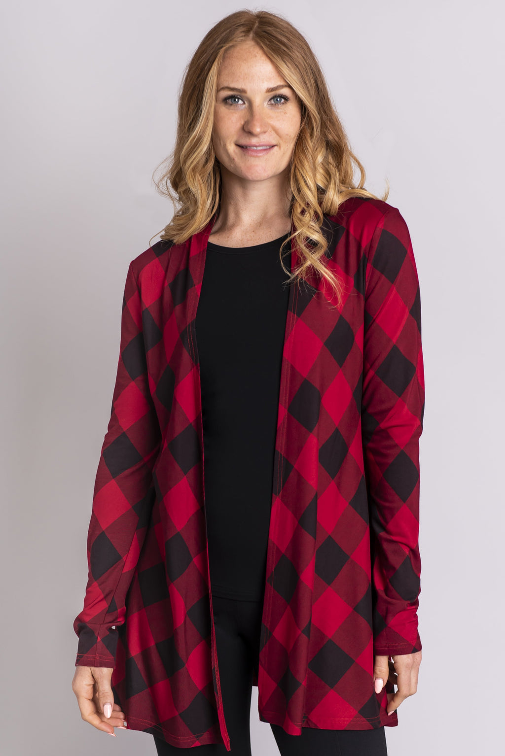 Chopra Jacket, Red Plaid, Bamboo - Blue Sky Clothing Co
