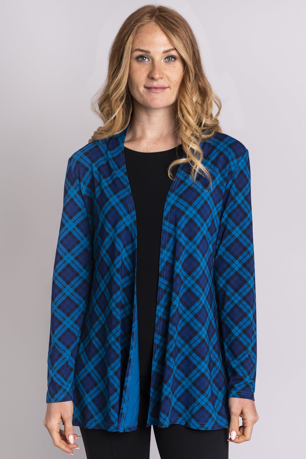 Chopra Jacket, Teal Plaid