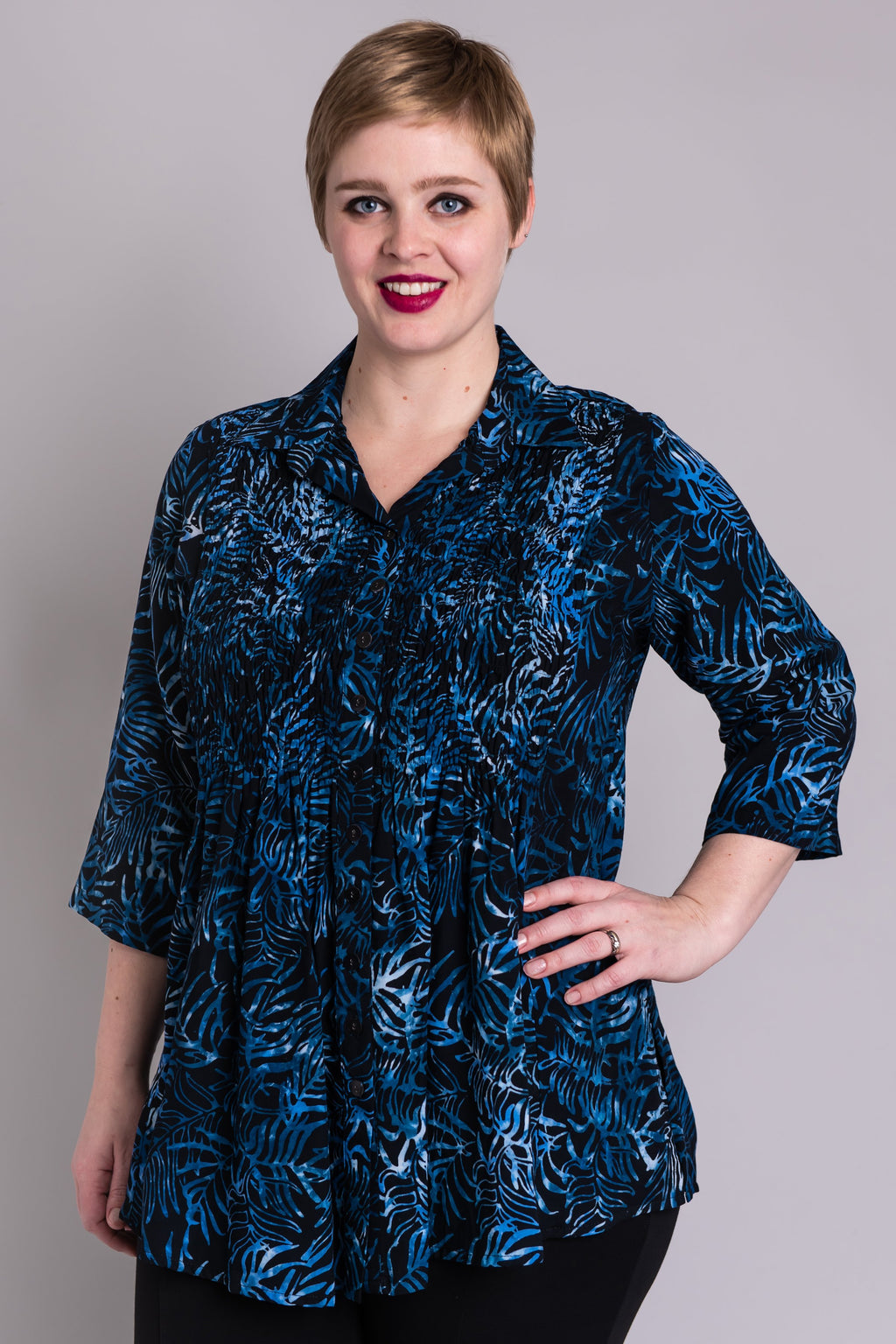 Cindy Blouse, Indigo Dream - Blue Sky Clothing Co