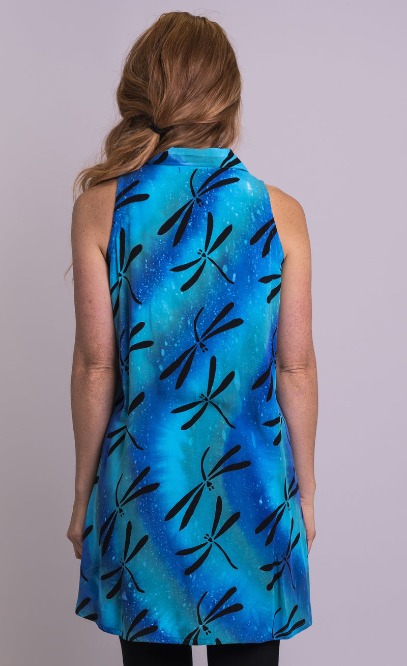 Cissy Top, Teal Dragonfly - Blue Sky Clothing Co
