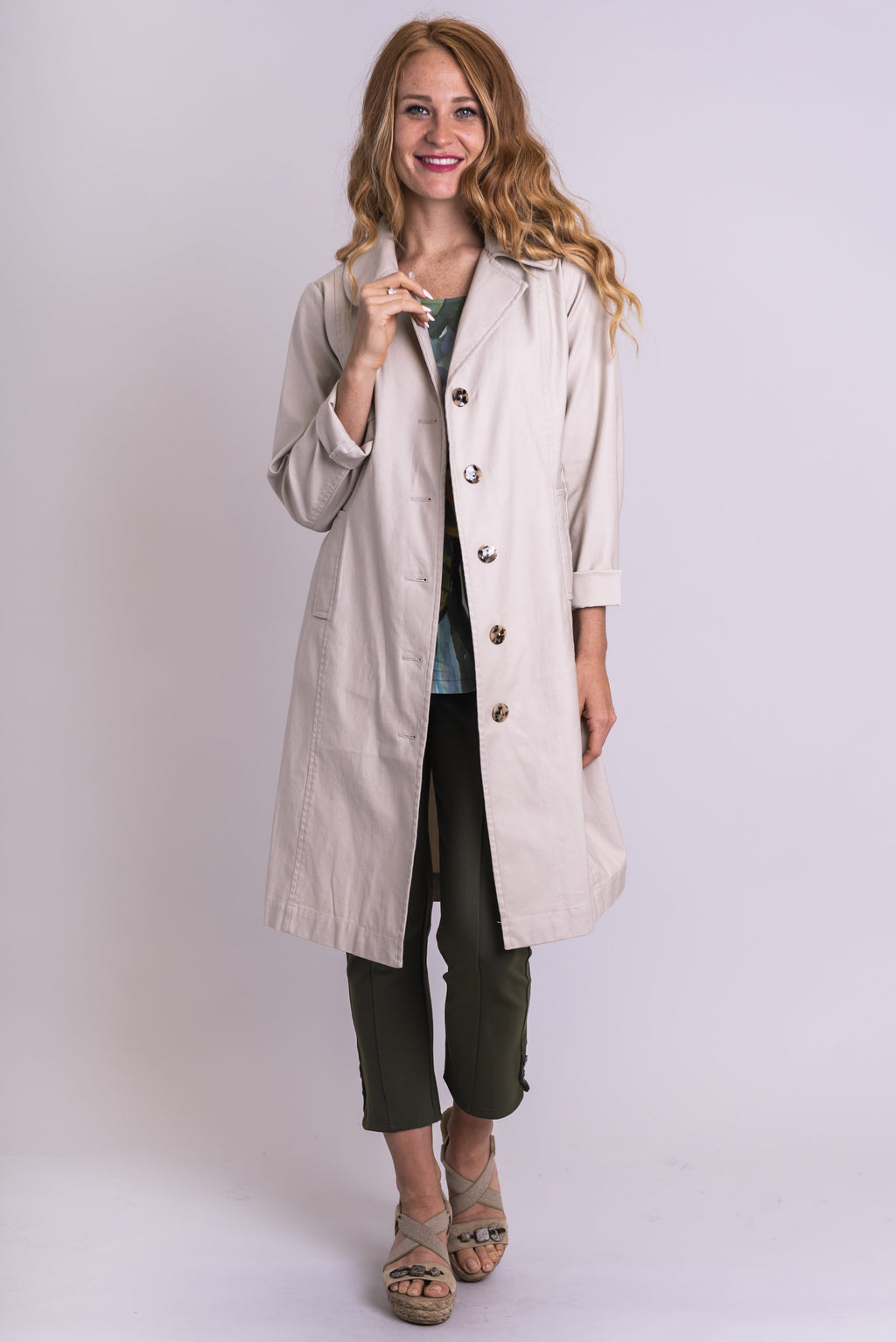 Compassion Trench, Beige, Cotton - Blue Sky Clothing Co