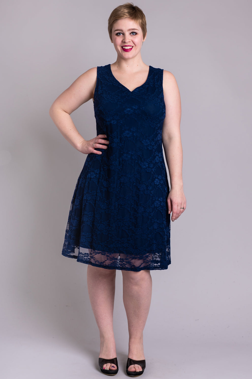 Cosette Dress, Indigo Aster, Bamboo Viscose - Blue Sky Clothing Co