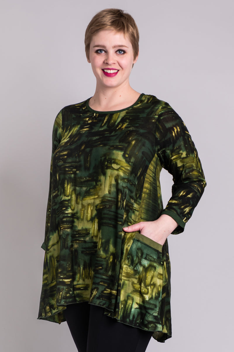 Cybill Tunic, Olive Weave - Blue Sky Clothing Co