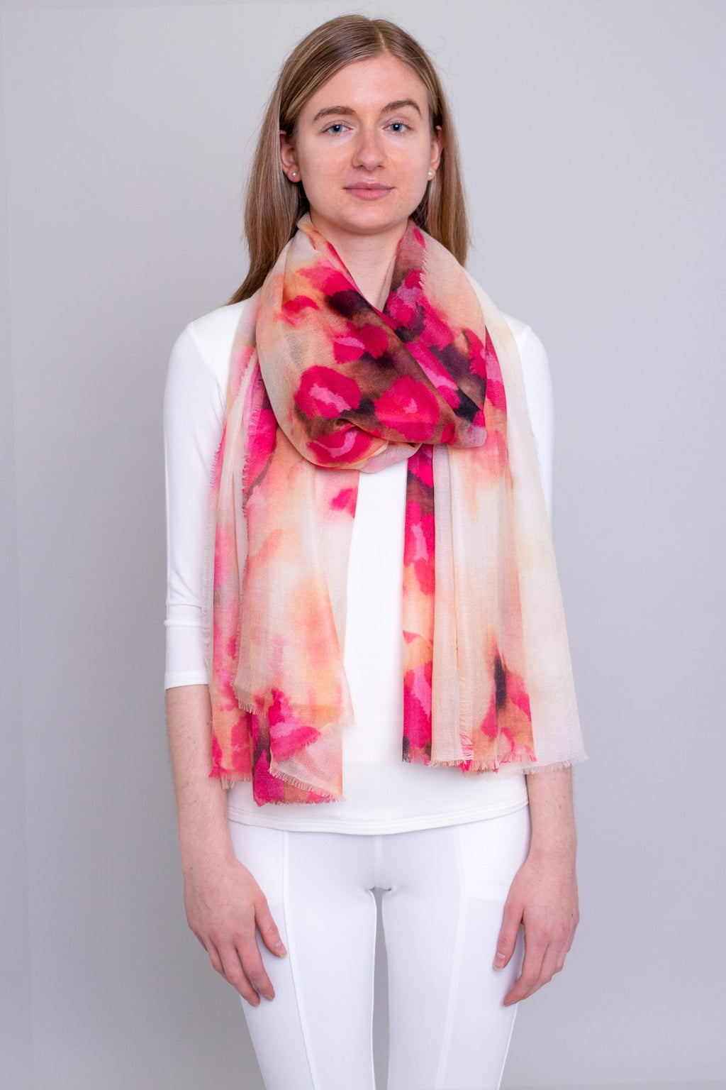 Cashmere Scarf, Red