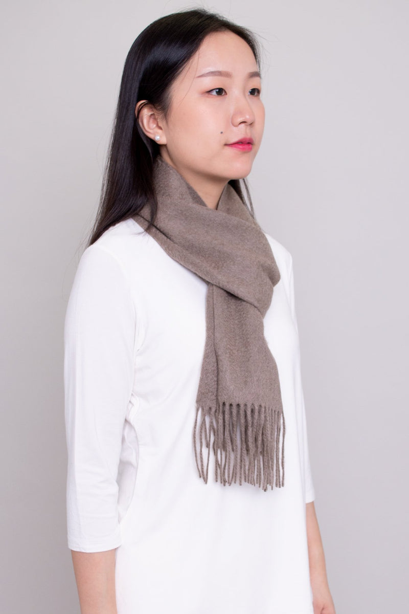 Cashmere Scarf, Light Brown