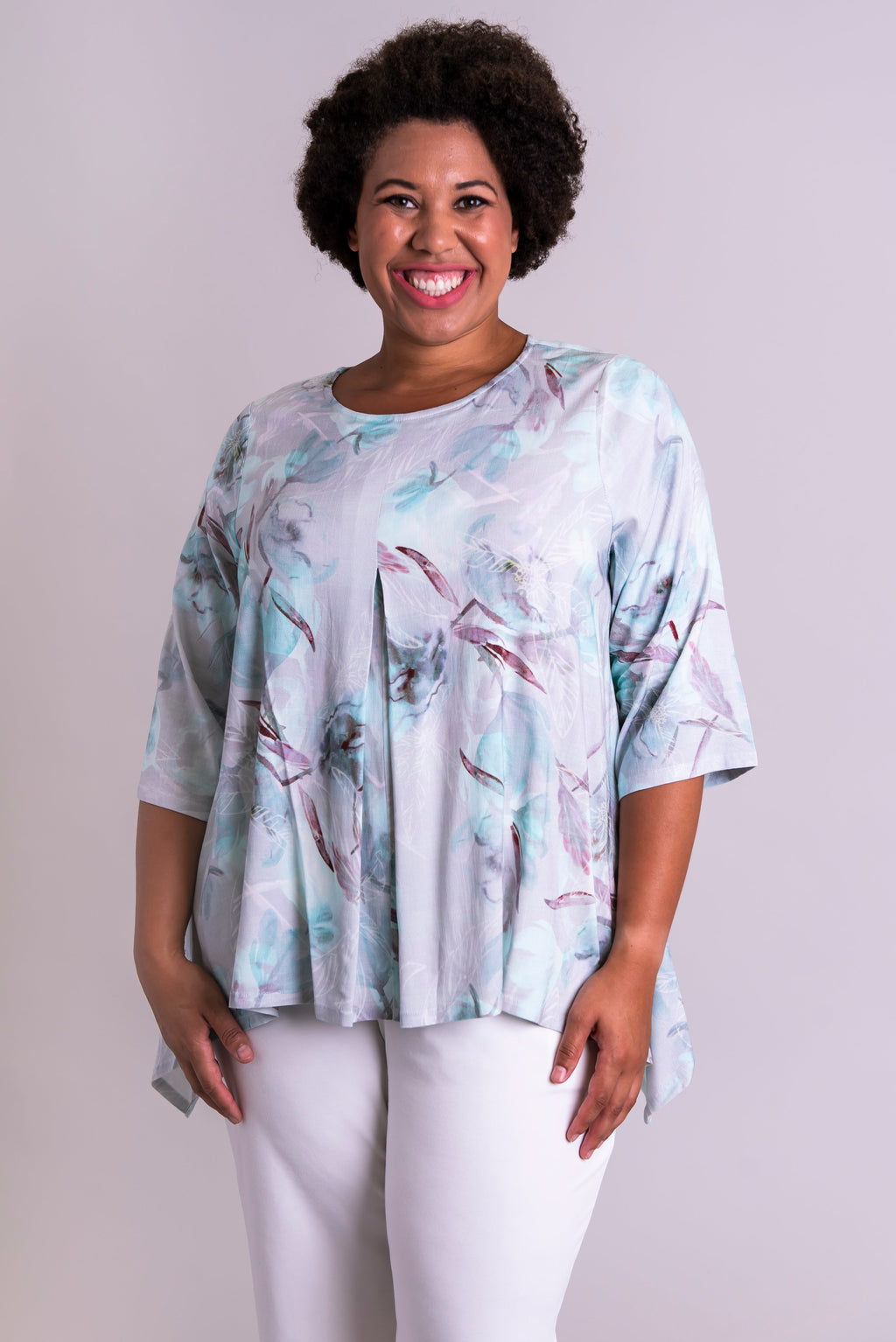 Daniella Top, Mintage, Linen Bamboo - Blue Sky Clothing Co
