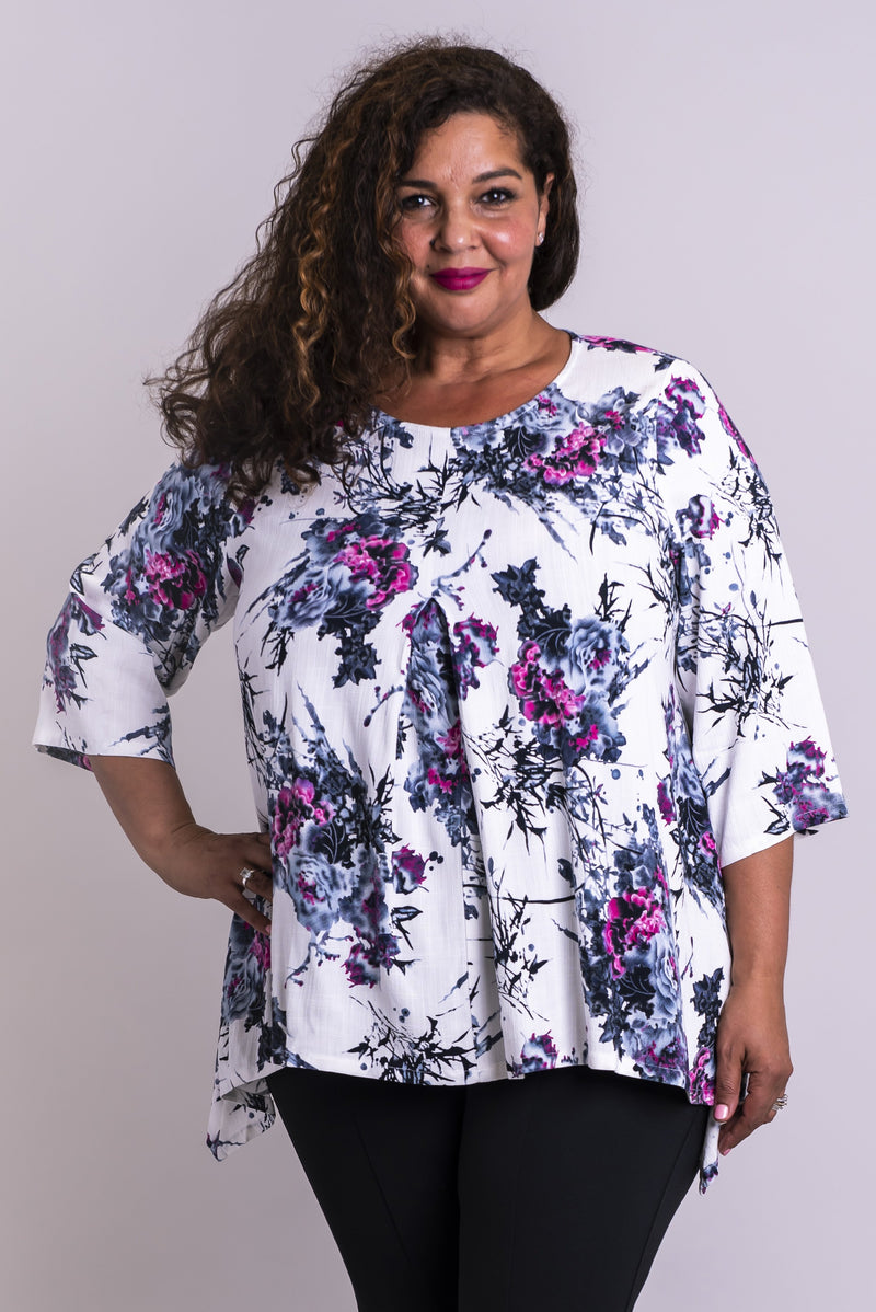 Daniella Top, New Expression, Linen Bamboo - Blue Sky Clothing Co